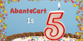 AbanteCart eCommerce Platform is turning 5 years old